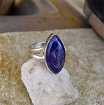 ZSOLD / Sterling Silver Lapis Lazuli Ring Size 9