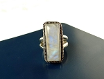 Rainbow Moonstone Ring in Solid Sterling Silver .925 Size 6
