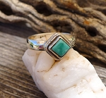 Turquoise Ring, Sterling Silver and Genuine Turquoise Size 7