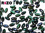 Rizo Beads, Emerald Blue Iris