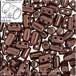 Rulla Beads, Dark Bronze, 10g Czech Rulla Seed Beads 3x5mm