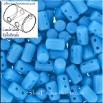 Rulla Beads, Blue Turquoise, 10g Czech Rulla Seed Beads 3x5mm