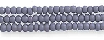Czech Seed Beads,  Opaque Grey, Size 11/0, Hank