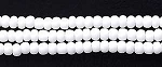 Czech Seed Beads, Opaque White, Size 11/0, Hank