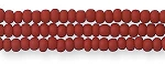 Czech Seed Beads, Opaque Matte Mahogany Red, Size 11/0, Hank