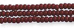 Czech Seed Beads, Opaque Mahogany Red, Size 11/0, Hank