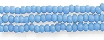 SOLDOUT - Czech Seed Beads, Opaque Light Turquoise Blue, Size 11/0, Hank