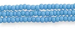 Czech Seed Beads, Opaque Turquoise Blue, Size 11/0, Hank
