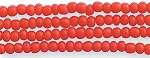 Czech Seed Beads, Opaque Medium Red, Size 12/0, Hank