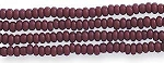 Czech Seed Beads, Opaque Medium Brown, Size 12/0, Hank