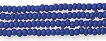 Czech Seed Beads, Opaque Navy Blue, Size 12/0, Hank