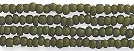 Czech Seed Beads, Opaque Olive Green, Size 12/0, Hank