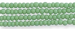 Czech Seed Beads, Opaque Medium Green, Size 12/0, Hank