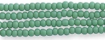 Czech Seed Beads Opaque Green, Size 12/0, Hank
