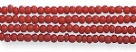 Czech Seed Bead Hank, Opaque Deep Red, Size 13/0