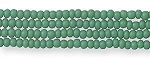 Czech Seed Bead Hank, Opaque Green, Size 13/0