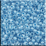 11/0 Miyuki Seed Beads, Inside Color Lined Sky Blue, 18gr Tube, 11RR-0221