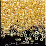 Miyuki Seed Beads, Transparent Light Gold AB 11/0 Seed Beads