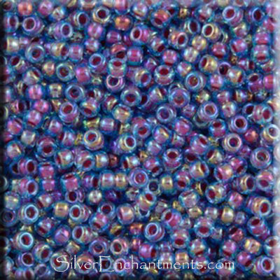 SOLDOUT - 11/0 Miyuki Seed Beads, Fancy Violet Blue, Tube, 11RR-0340
