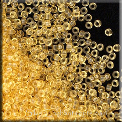 Miyuki 15/0 Seed Beads, Transparent Yellow Topaz, 10-grams, 15RR-0132