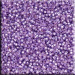 15/0 Miyuki Seed Beads, Silver-lined Violet, 10-grams, 15RR-0574