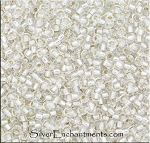 Miyuki Seed Beads 8/0, Silver Lined Crystal Glass Seed Beads Size 8, 8RR-0001