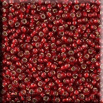 SOLDOUT - Miyuki Seed Beads 8/0, Silver Lined Ruby Red Glass Seed Beads Size 8, 8RR-0011