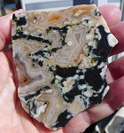 Apple Valley Agate Slab, 74x65x6.4mm
