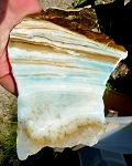 Aragonite Slab, Blue Banded Aragonite, 145x113x6.4mm