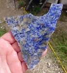 Blue Quartz Slab, 113x96x6.6mm