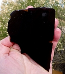Black Obsidian Slab, 108x79x6.2mm