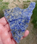 Blue Quartz Slab, 107x86x6.3mm