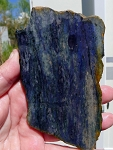 Dumortierite Slab, Variegated Dark Blue Violet, 124x79x6.1mm