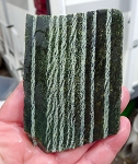 Chrysotile in Serpentine Slab, Green Zebra Jasper, 87x61x6.4mm