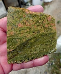 Unakite Slab, Arizona Fine Grained Unakite Jasper, 79x69x6.1mm