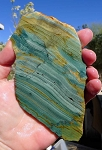 Larsonite Slab, Gary Green Jasper, 141x79x6.3mm