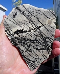 Fish Net Jasper Slab, 126x101x6.2mm