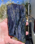 Dumortierite Slab, Variegated Dark Blue Violet, 146x73x5.2mm