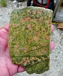 Unakite Slab, Arizona Fine Grained Unakite Jasper, 106x69x6.1mm