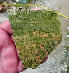 Unakite Slab, Arizona Fine Grained Unakite Jasper, 100x73x6.5mm