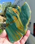 ZSOLD / Larsonite Slab, Gary Green Jasper, 147x106x6.7mm