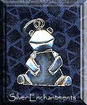 Sterling Silver Origami Bear Charm