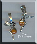Sterling Silver Tinkerbell Fairy Pendant with Baltic Amber