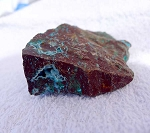 SOLD - DeGrussa Cuprite Specimen with Botryoidal Chrysocolla