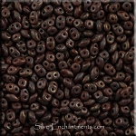 SuperDuo Beads, Chocolate Umber Copper Picasso