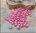 Super Duo Beads, FLAMINGO Pearl Coat SuperDuo Beads