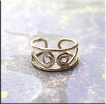 Sterling Silver Scroll Toe Ring