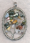 Jasper Tree of Life Pendant