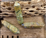 Rhyolite Wand, Double Terminated Rainforest Jasper Wand
