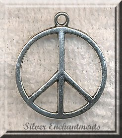 Domed Peace Sign Necklace, Peace Symbol Jewelry